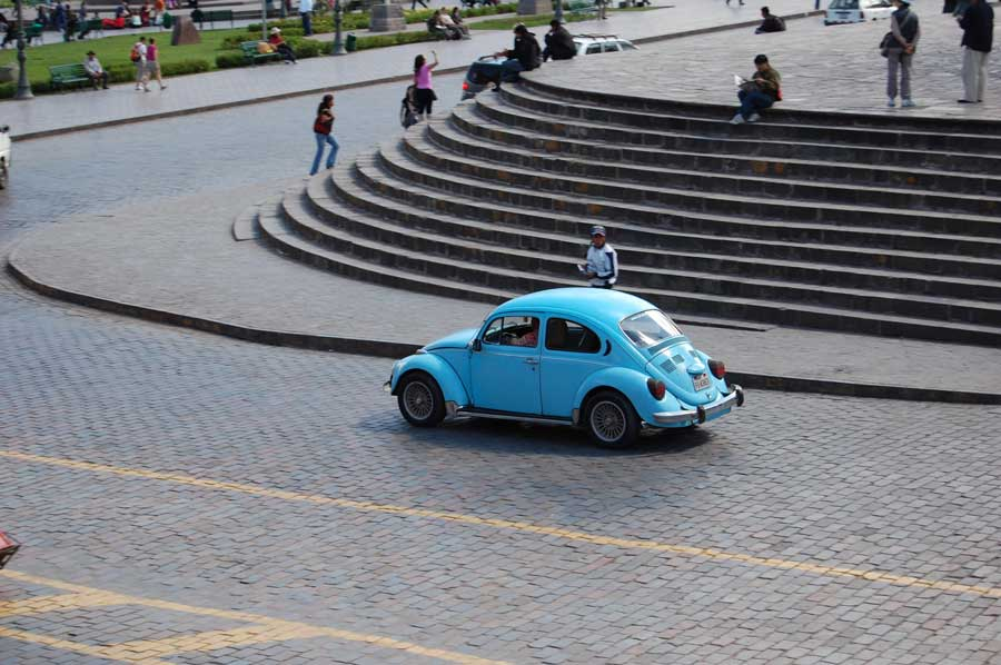 Shades of Punch Buggy  Cusco Peru  Man On The Move