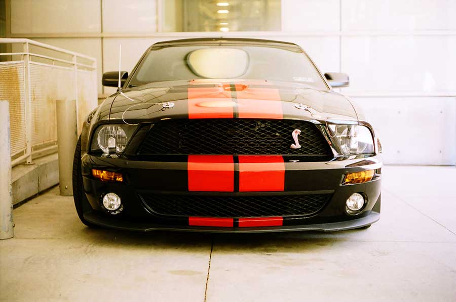 Ford Mustang Shelby Gt500 Convertible West 23rd Street Nyc Man