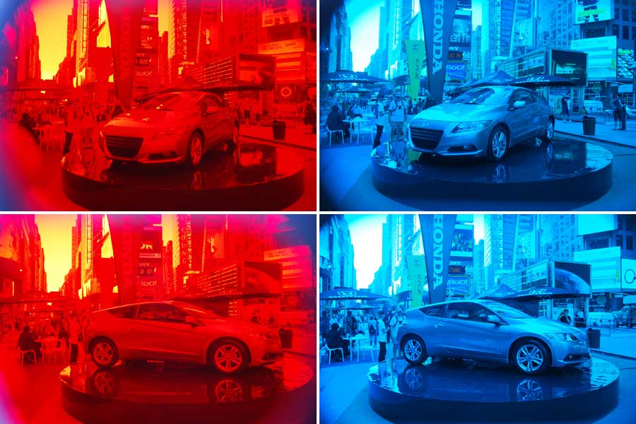 New Product Honda Cr Z S 3 D Times Square Takeover Man