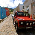Man on the Move In Africa: Bo-Kaap Neighborhood, Cape Town