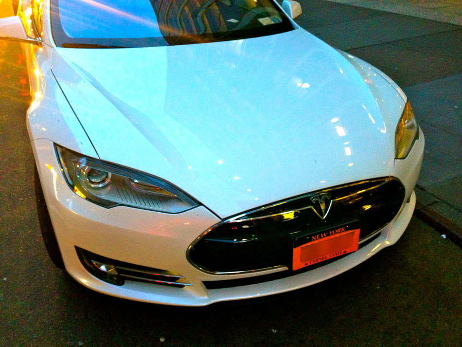 Tesla Model S - West 55th Street, NYC