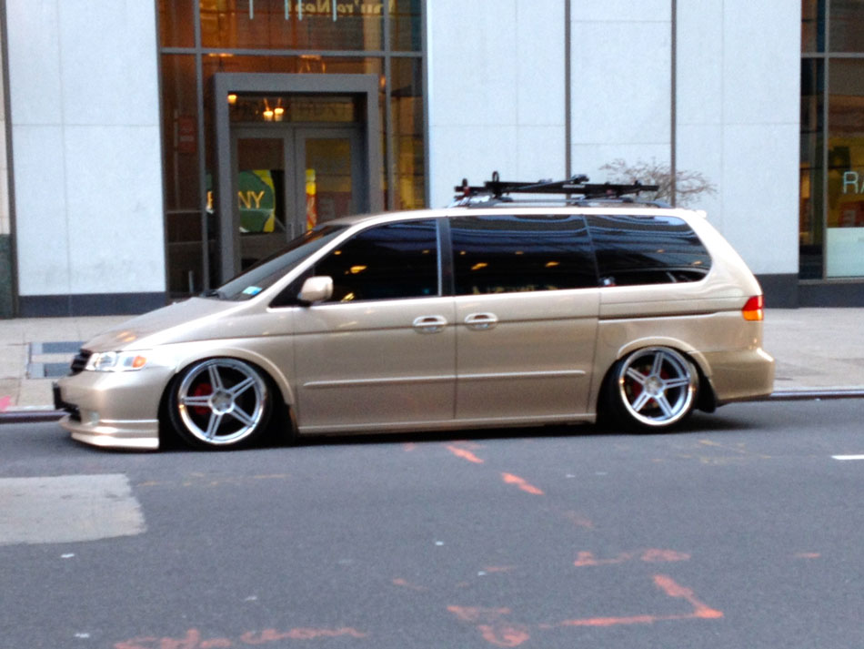 Slammed Honda Odyssey The Time Warner Center NYC