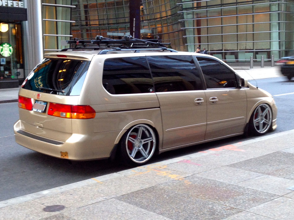 Slammed Honda Odyssey - The Time Warner Center, NYC