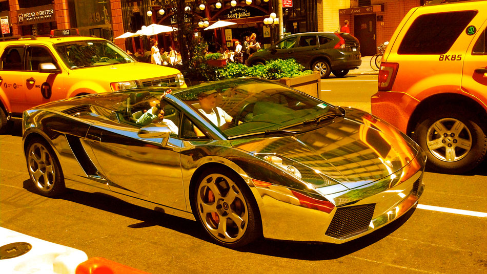 Chrome Lamborghini Gallardo - Park Ave @ 29th Street, NYC