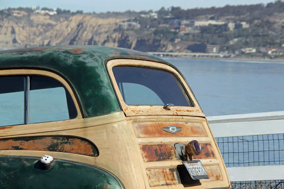 Chevy Woody Wagon - La Jolla Cove: La Jolla, California
