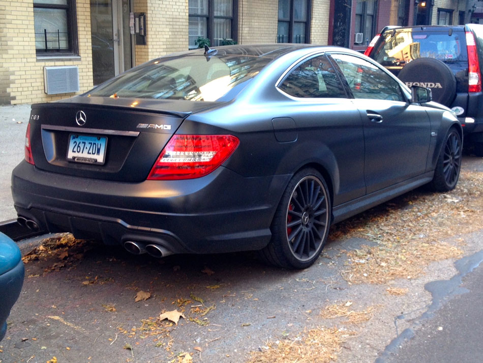 Mercedes C63 AMG Coupe - East Village, NYC